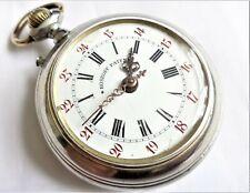 Antique ROSKOPF Swiss Made Open Face Top Wind Men Pocket watch in working order