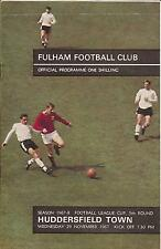 Fulham v Huddersfield Town - League Cup - 1967 - Football Programme