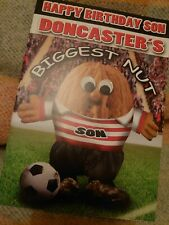 Son birthday greetings card - Doncaster fan