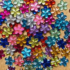 95+ pcs 10mm Resin Flower petals flatback Appliques craft scrapbook #165