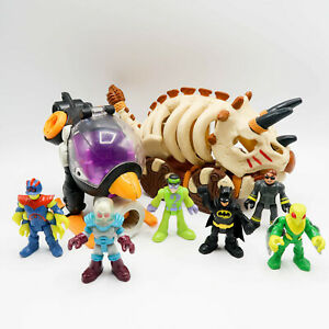 Imaginext Lost Creature Cart Bone Car Dino Penguin Helicopter & figure Lot