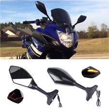Arrow LED Turn Signals Motorcycle Rearview Mirrors For Yamaha FZ6R YZF R6 YZF600