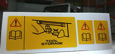 Land Range Rover Classic Rear Jack Storage Tool Warning Decal MXC4928 Set