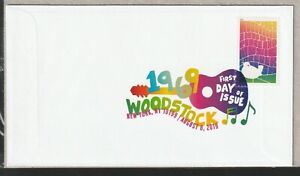 WOODSTOCK US 5409 MUSIC FESTIVAL 50th ANNIVERSARY XF FOREVER STAMP DCP COVER NIP