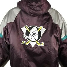 Anaheim Mighty Ducks Starter Jacket Vintage 90s Pullover NHL Hockey Size Large