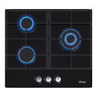 "IsEasy 24"" Gas Cooktop 3 Burners Tempered Glass Panel Built-in LPG NG Hob Black photo"