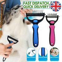 Dog Pet DEMAT Tool Cat Comb Brush Grooming Kit Undercoat Rake Demat Hair Tool UK