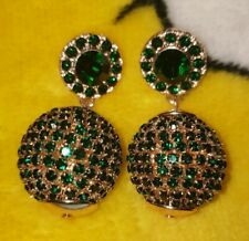 BUTLER AND WILSON BALL  CRYSTAL GREEN EARRINGS NEW SPARKLE  REDUCED
