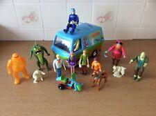 Scooby Doo Mystery Machine & Figures Motorbike VGC