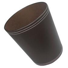 Büro Papierkorb Vintage PU Leder Abfalleimer Mülleimer Mülltonne für