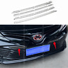 steel Chrome Front Grille grill Trim Cover Molding fit For toyota Camry 2018-19