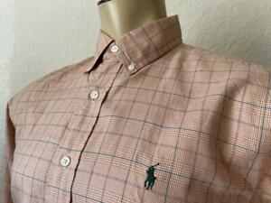 """Ralph Lauren Men's Checked Classic Fit Long Sleeve Dress Shirt 15 1/2-32/33"""" **"""