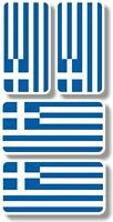 Vinyl sticker/decal Extra small 45mm & 35mm Greece flags - group of 4