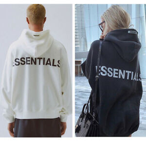 Fog essentials reflective couples loose-fitting hoodie high street Kanye sweater