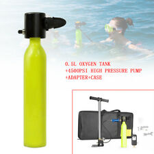 4500PSI Underwater Diving Mini Scuba Submersible 2700L Oxygen Tank Breath W/Case