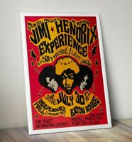 Jimi Hendrix Gig Poster, Jimi Hendrix Poster, Psychedelic Music Poster