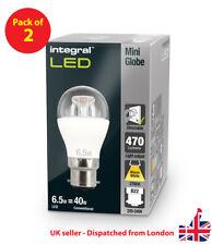 Mini Globe 6.5W (40W) 2700K 470lm B22 Dimmable Clear Lamp - Integral LED