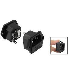 1 X 3 Pins IEC C14 AC 250V 10A Power Inlet Socket w 5mm x 23mm Fuse Holder