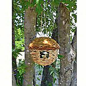 Round grass birdhouse