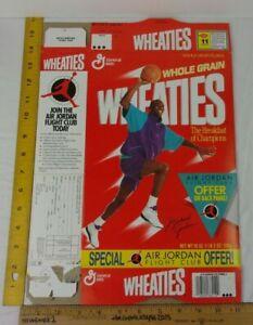 1991 Michael Jordan Wheaties cereal box Air Jordan Flight Club offer flat