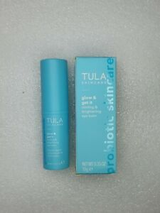BNIB TULA Glow & Get It Cooling & Brightening Eye Balm 0.35 oz/10g