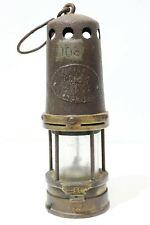Genuine British Full Size Vintage Brass Miners Lamp - 232