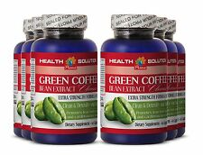Super Antioxidant GREEN COFFEE EXTRACT CLEANSE Green Coffee Bean Extract 6 Bot