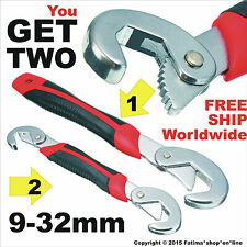 2 Pcs Universal Quick Snap'N Grip Adjustable Spanner Wrench Set Multi-function