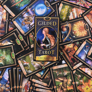 The Gilded Tarot Deck Card Toy Tarot Divination Oracles Guidance Fate Board Fj