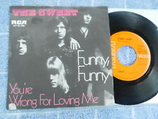 """The Sweet  - Funny, Funny -  German Picture Sleeve PS 7"""""""