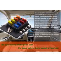 8-Fach KFZ Auto Boot Sicherungshalter Sicherungsdose Sicherungskasten 12V/32V