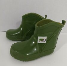 Toddler Rain Boots Sz 3 Petting Zoo Tractor Green  Infant Boy Farm Baby Shoes