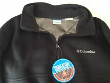 COLUMBIA Pullover HALF ZIP Men's XXL/2TG Charcoal Gray OMNI HEAT