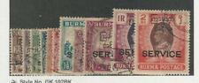 Burma, Postage Stamp, #O43-O53 Used, 1947, JFZ