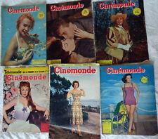 cinémonde lot 6 no 1951-1955 M.Carol, J.Gréco, G.Marchal, E.Feuillère, D.Hart