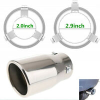 Car Stainless Steel Exhaust Muffle Silencer Exhaust Muffler Pipe Tip Tail Throat