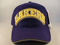 Los Angeles Lakers NBA Vintage Adjustable Strap Hat Cap Purple