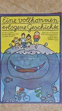 (D80) DDR-Plakat EINE VOLLKOMMEN ERLOGENE GESCHICHTE Grafik: Appelmann 1980