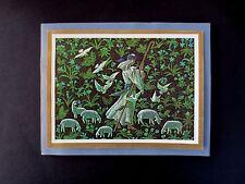 Vintage Irene Dash Sample Xmas Greeting Card by Tait Henson Idyll Of Innocence