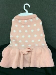 Top Paw Pink w/White Dots Dog Sweater Dress~ Choice of XS,S,M,L,XL~ NEW with tag