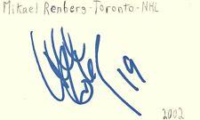Mikael Renberg Toronto Nhl Hockey Autographed Signed Index Card