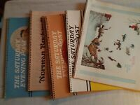Lot of 6 Norman Rockwell Saturday Evening Post Calendars Artwork vintage