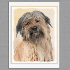 6 Pyrenean Shepherd Dog Blank Art Note Greeting Cards