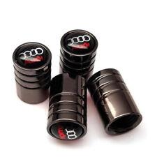 Audi set of 4 valve dust caps tt a3 s3 a4 a5 q7 a6 rs4 r8 quattro avant s line