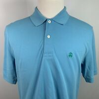 Brooks Brothers Men's Performance Polo Shirt Blue Size M
