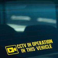 CCTV IN OPERATION IN VEHICLE Security Camera Car,Taxi,Coach Vinyl Decal Sticker