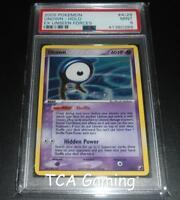 PSA 9 MINT Unown A/28 Ex Unseen Forces HOLO RARE Pokemon Card