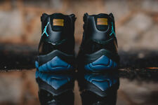 AIR JORDAN 11 RETRO BLACK/GAMMA BLUE BLACK VATSITY MAIZE 378037 006 SZ 12.5