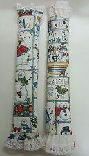 2x Refrigerator Decorative Handles Covers Beautiful Fabric Kitchen christmas