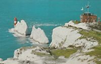 The Needles Rocks & Lighthouse Vintage  Photo Postcard -1933, Isle of Wight